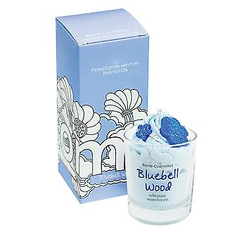 Bomb Cosmetics Piped Glass Candle - Bluebell Wood
