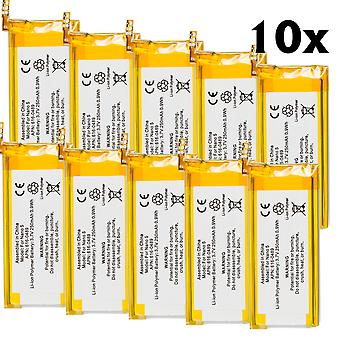 10-pack batteri för Apple iPod Nano 5th gen 5G 16GB 8GB 616-0406 616-0467 A1320