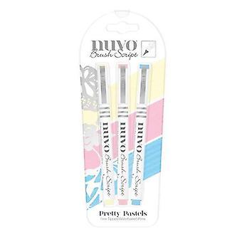 Tonic Studios Nuvo Brush Script Pens - Pretty Pastels