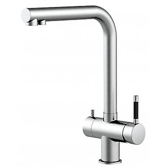 3way Kitchen Sink Mixer 100% Stainless Steel With Separated Water Flow For Water Filter System, Brushed Finish - 120