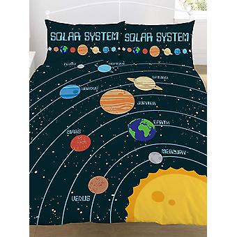 Solar System Double Duvet Cover and Pillowcase Set