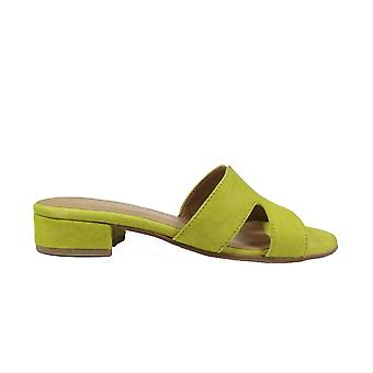 Tamaris 27123 Green Suede läder damer slip på mule sandaler
