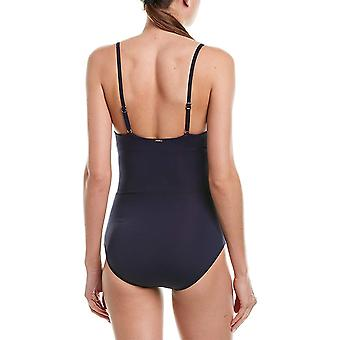 Anne Cole Women's Wrap Lingerie Maillot One Piece Swimsuit,, New Navy, Size 14.0