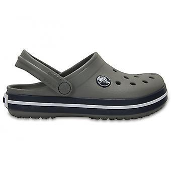Crocs 204537 Crocband Kids unisex Clogs røg/Navy