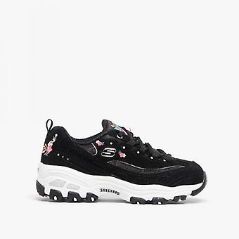Skechers D'lites Bright Blossoms Girls Trainers Black