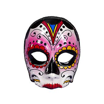 Day Of The Dead Men Eyeglass Frame Mexican Skull Women Costume Female Half Mask