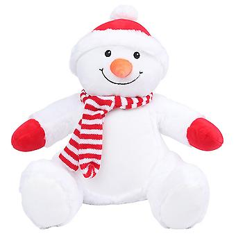Mumbles Zippie Childrens/Kids Snowman Soft Toy
