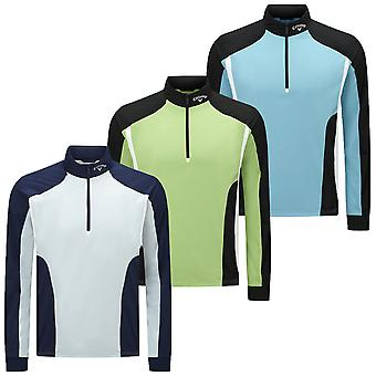 Callaway Golf Mens LS Water Resistant Thermal 1/4 Zip Pullover