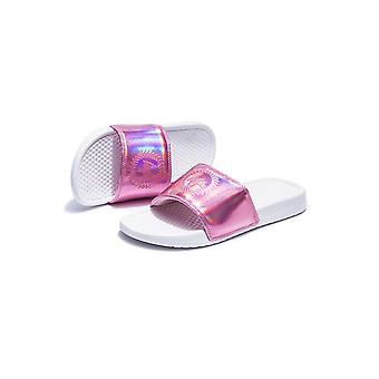 Hype Pink Holographic Sliders