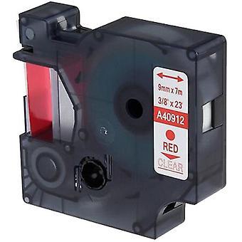 Kaseta Prestige™ kompatybilna d1 40912 red na taśmach bezprzezroczystych (9mm x 7m) dla producentów etykiet elektronicznych