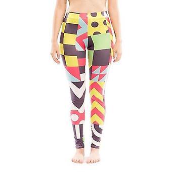 Färgglada mönster legging