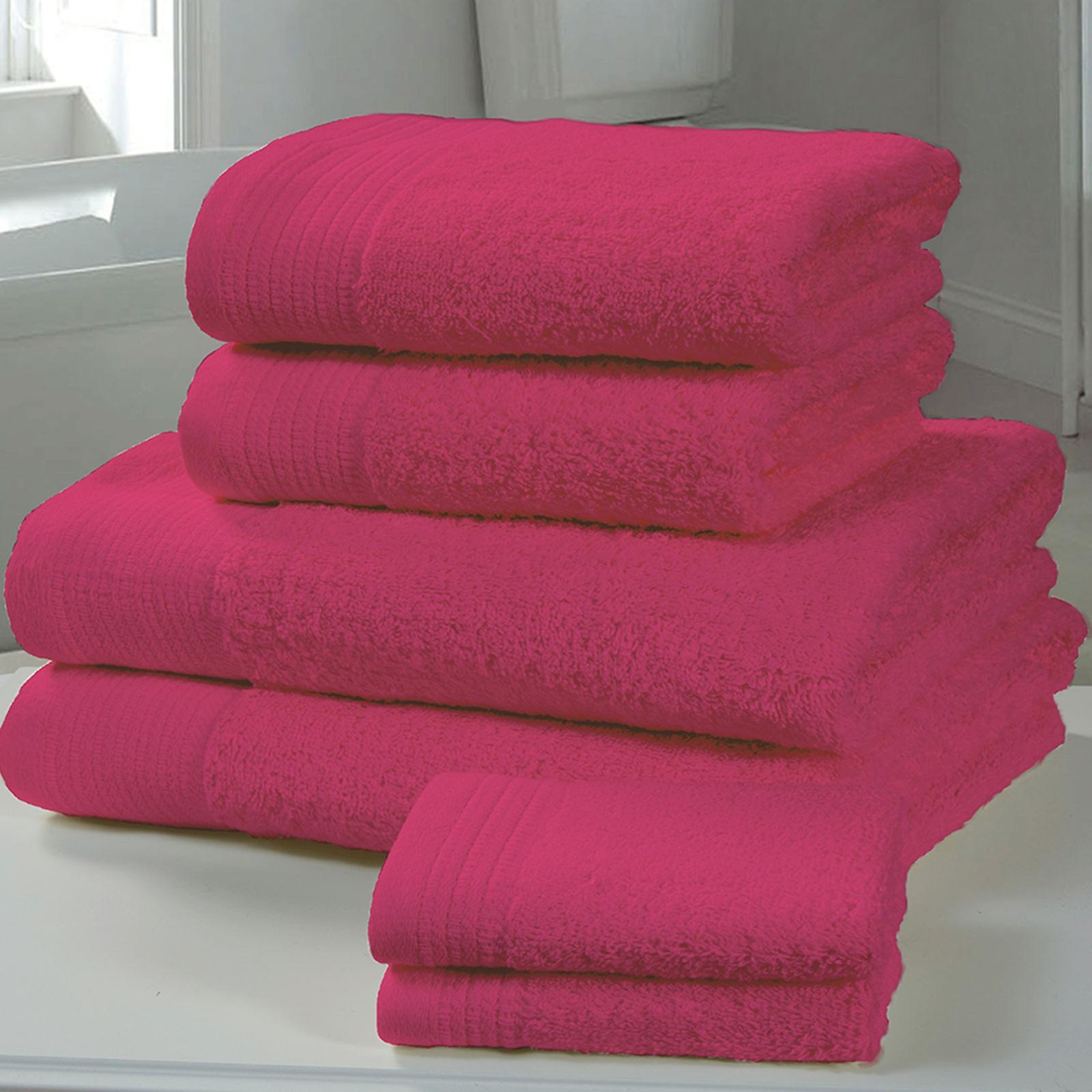 Chatsworth 4 Piece Towel Bale Fuschia- 2 Hand Towels, 2 Bath Towels