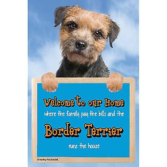 Faithful Friends Collectables Welcome 3d Hang-up Border Terrier