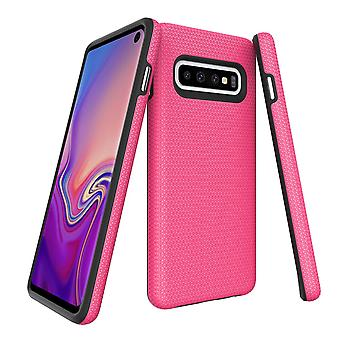 For Samsung Galaxy S10 Case, Armour Pink Protective Durable Slim Phone Cover