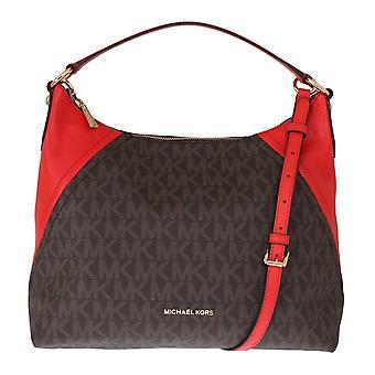 Michael Kors Brown Aria Leather Shoulder Bag