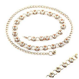 42 Tum Rund Bedövning Diamant Design Chain Midjebälte