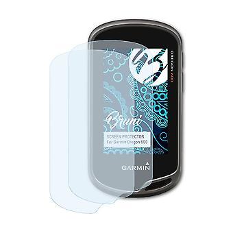 Bruni 2x Película Protectora compatible con Garmin Oregon 600 Lámina Protectora