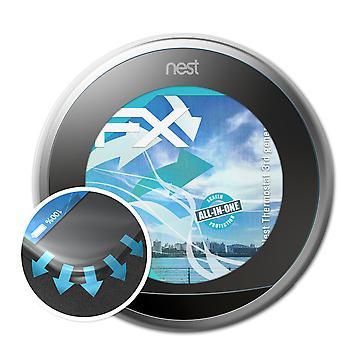 atFoliX 2x suojakalvo yhteensopiva Nest Thermostat 3rd generation kirkas & joustava