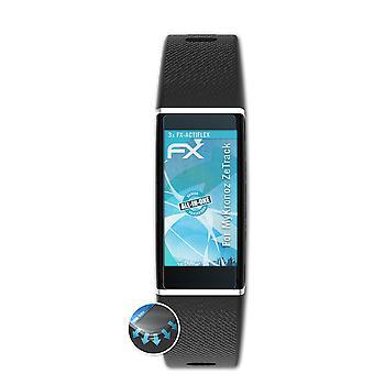 atFoliX 3x Anti Shock Screen Protector compatible with MyKronoz ZeTrack matt&flexible
