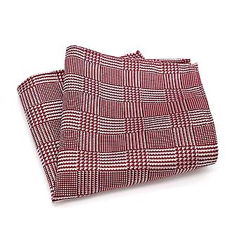 الرجال & أبوس والأحمر والأبيض الترتان الشريط الاستمالة جيب مربع