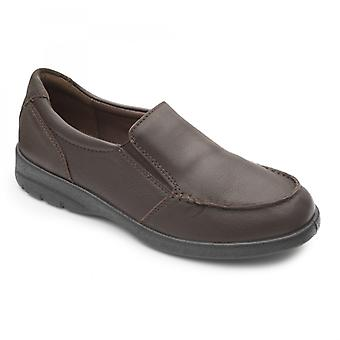 Padder Comet Herren Leder regelmäßige (f Fit) Schuhe dunkelbraun