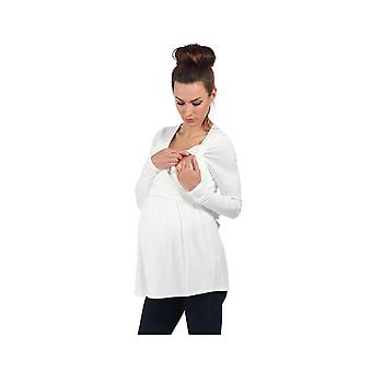 The Essential One Long Sleeve Nursing Top White