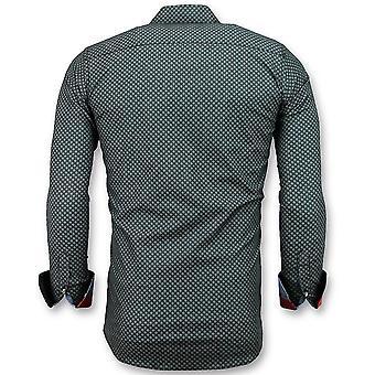 Luxury Italian shirts-Sunshine Blouse men-3031-Black