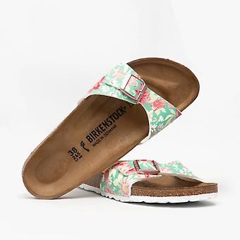 Биркенсток Мадрид 1016772 (нар) Дамы Бирко-флор Один ремень сандалии Сверхъестественное Цветы Изумрудный