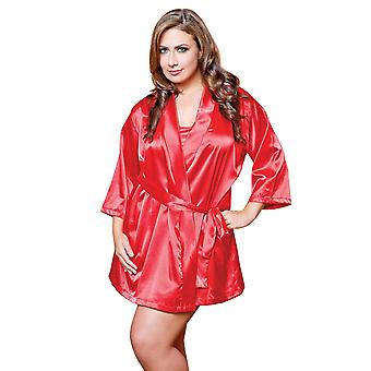 Plus Size Full Figure Classic Satin Robe