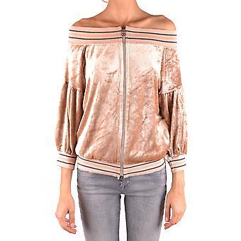 Pinko Ezbc056312 Kvinder's Beige Modal Sweatshirt