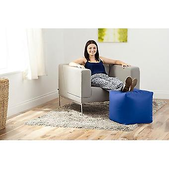 Hippo Royal Blue Faux Leather Bean Bag Cube Footstool Pouffe Seat