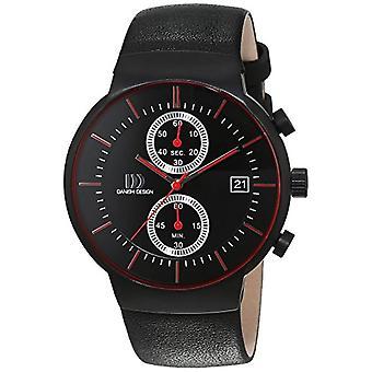Duński Design kwarc skórzane męskie zegarek 3316343