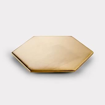 Brass Coaster - Gold - Hexagon