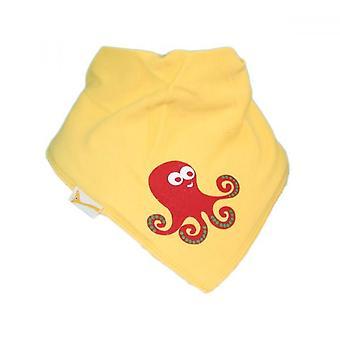 Yellow octopus bandana bib