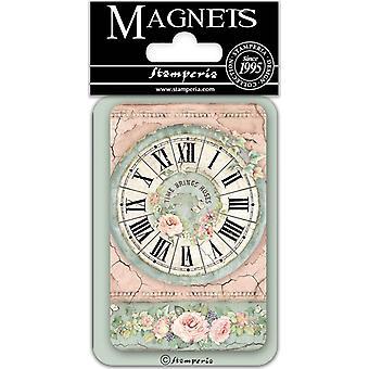 Stamperia Uhr 8x5.5cm Magnet