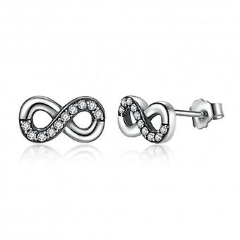 Boucles D'oreilles En Argent Sterling Infini - 6503