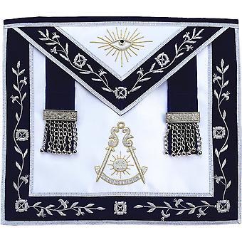 Masonic verleden meester edelmetaal schort hand geborduurd