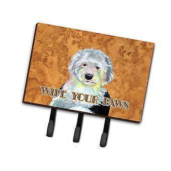 Carolines Treasures  LH9457TH68 Old English Sheepdog Wipe your Paws Leash or Key