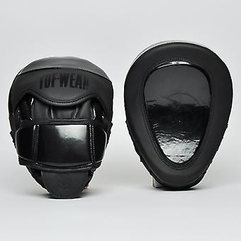 Tuf Wear Atom Gel Curved Hook and Jab Pad Black
