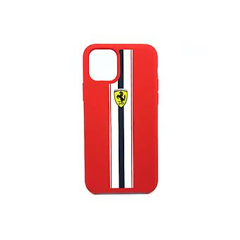 Ferrari Stripes Backcover Hoesje iPhone 11 Pro - Rood