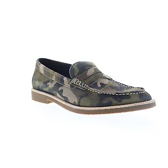 Robert Wayne Andrew  Mens Green Suede Casual Slip On Loafers Shoes