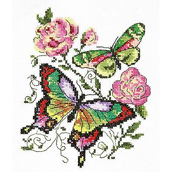 Magic Needle Cross Stitch - Butterflies and Roses