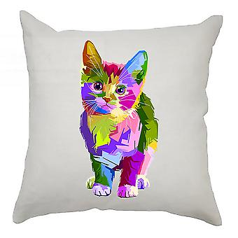 Colourful Cushion Cover 40cm x 40cm Cat