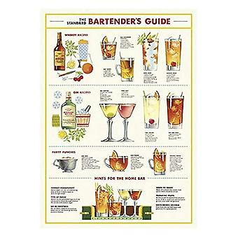 Cavallini Bartenders Guide Wrapping Paper Poster