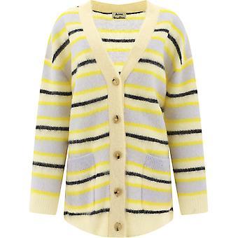 Acne Studios A60148yellow Women's Yellow Wool Cardigan