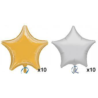 Anagram 19 Inch ster folie ballon (pakje 10)