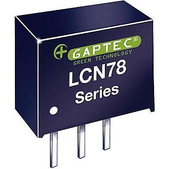 Gaptec LCN78_12-0,5 DC/DC converter (print) 24 V DC 12 V DC 500 mA 6 W Nr. van de uitgangen: 1 x