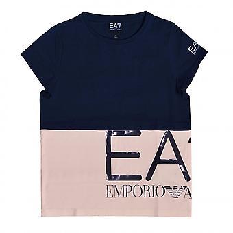 EA7 Girls Navy Blue T-Shirt