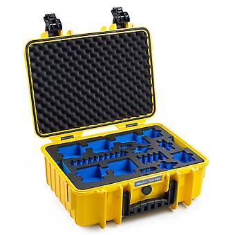 B&W GoPro Case Typ 4000 für GoPro HERO 5/6/7, Gelb Mit Schaumstoffeinsatz