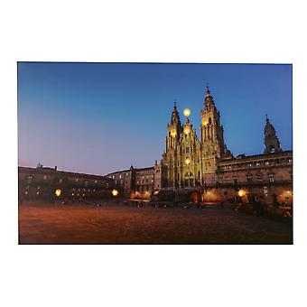 Jandei LED frame with 8 LED of The Cathedral of Saniago de Compostela 60 x 40 2 batteries AA